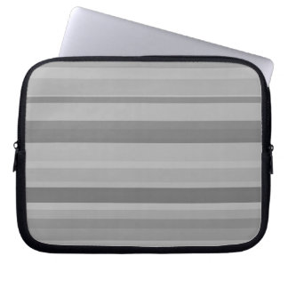 Grey horizontal stripes laptop sleeves