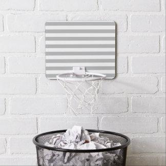 Grey Horizontal Stripes Mini Basketball Hoop