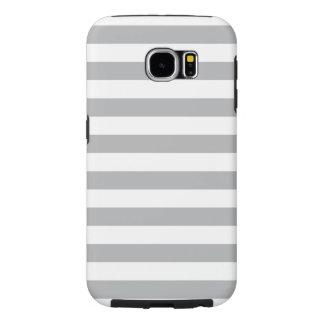 Grey Horizontal Stripes Samsung Galaxy S6 Cases