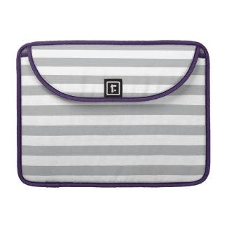 Grey Horizontal Stripes Sleeve For MacBook Pro
