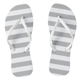 Grey Horizontal Stripes Thongs