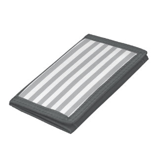 Grey Horizontal Stripes Tri-fold Wallets