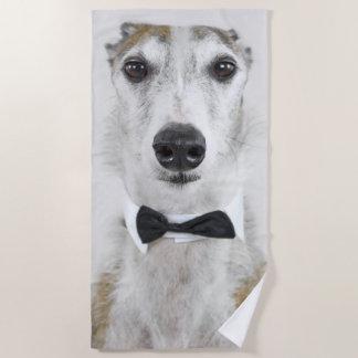 Grey Hound dressed up Beach Towel