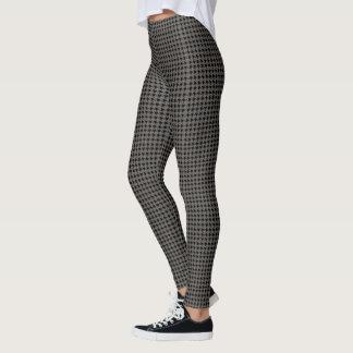 Grey Houndstooth Leggings