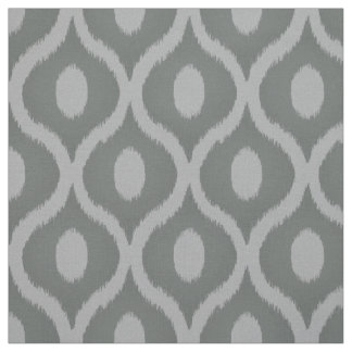Grey ikat moroccan design fabric
