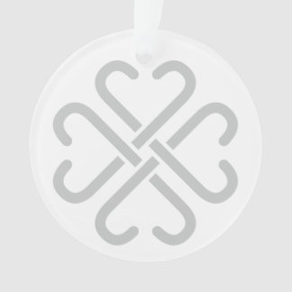 Grey Jamberry logo acrylic ornament