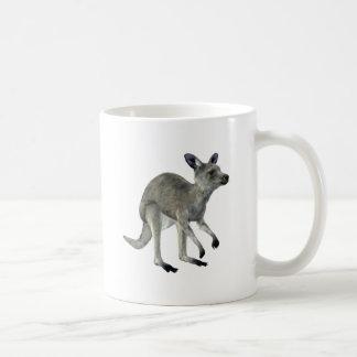 Grey Kangaroo Basic White Mug