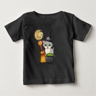 Grey Kitten Halloween Cartoon Baby T-Shirt