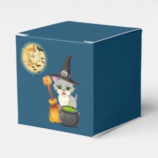 Grey Kitten Halloween Cartoon Favour Box