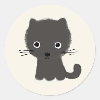 Grey Kitten Round Sticker