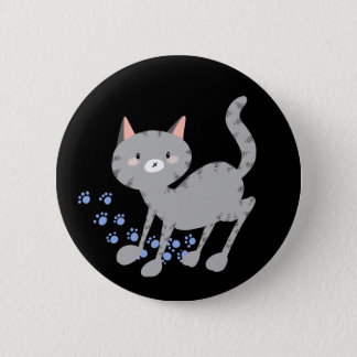 Grey Kitty Badge