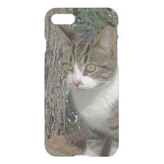 Grey Kitty Cat Stalking iPhone 7 Case