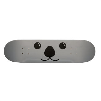 Grey Koala Cute Animal Face Design Custom Skateboard