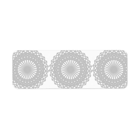 Grey Lace Design Pattern. Return Address Label