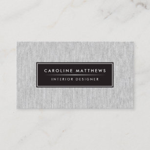 Women fashion clothing business cards zazzle au grey linen elegant personal profile business card reheart Image collections