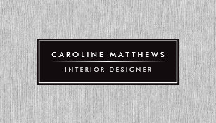 Women business cards zazzle au grey linen elegant personal profile business card reheart Image collections
