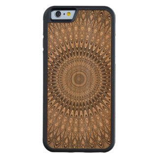 Grey mandala carved cherry iPhone 6 bumper case