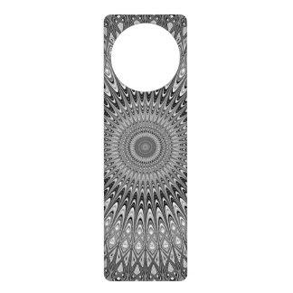 Grey mandala door hanger