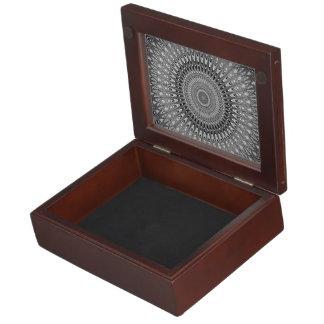 Grey mandala keepsake box