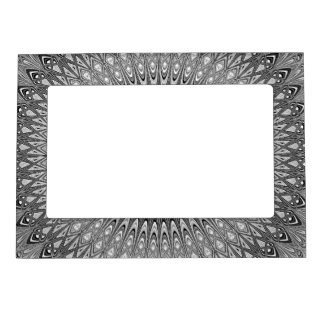 Grey mandala magnetic frame