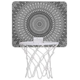 Grey mandala mini basketball hoop