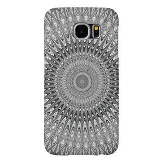 Grey mandala samsung galaxy s6 cases