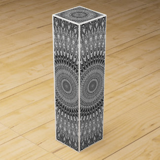 Grey mandala wine box