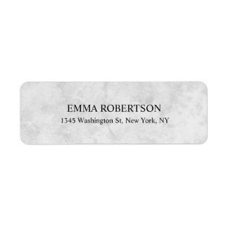 Grey Marble Plain Elegant Modern Professional Return Address Label