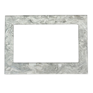 Grey marble surface pattern magnetic frame