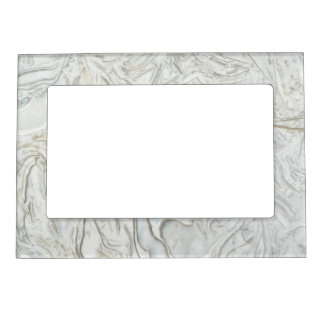 Grey marble surface pattern magnetic picture frame