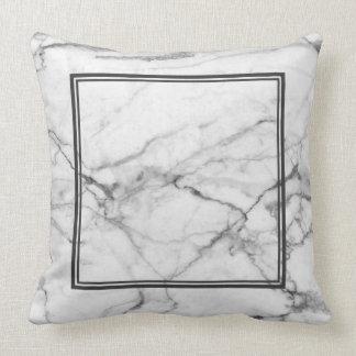 Grey marble texture Grey Border Throw Pillow