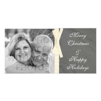 Grey Marble w/Ribbon Photo Card