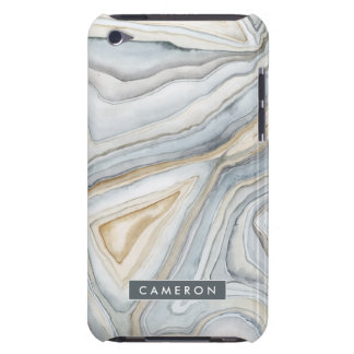 Grey Marbled Abstract Design Barely There iPod Cases