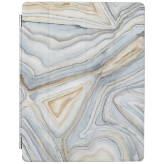 Grey Marbled Abstract Design iPad Cover