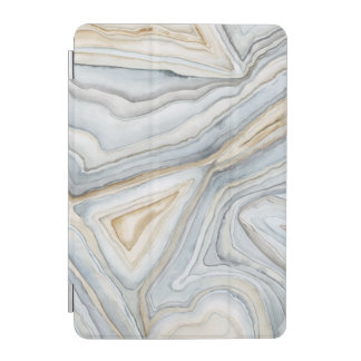 Grey Marbled Abstract Design iPad Mini Cover