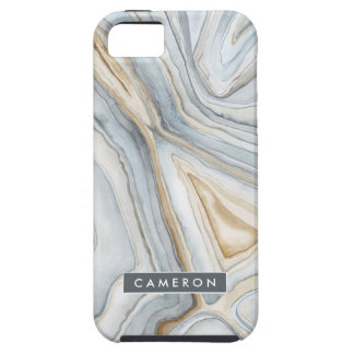 Grey Marbled Abstract Design iPhone 5 Case
