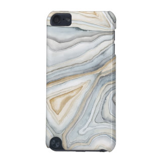 Grey Marbled Abstract Design iPod Touch 5G Covers