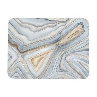 Grey Marbled Abstract Design Magnet