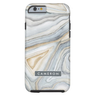 Grey Marbled Abstract Design Tough iPhone 6 Case