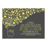 grey mason jar yellow flowers wedding invitation 13 cm x 18 cm invitation card