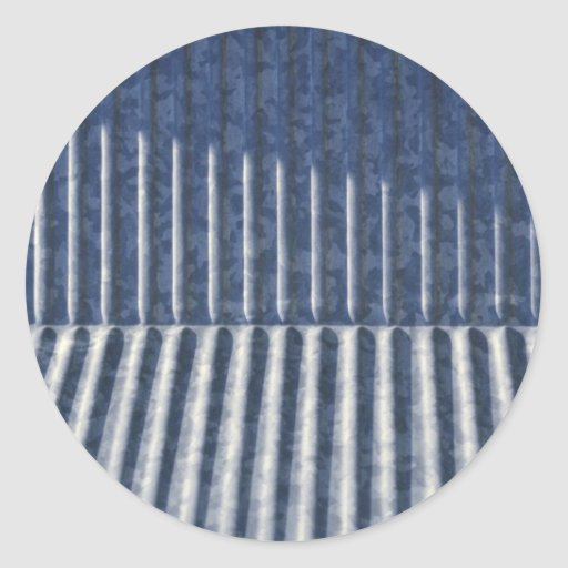 Grey Metal Grooves (Thin) Sticker