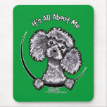 Grey Miniature Toy Poodle IAAM Mouse Mats