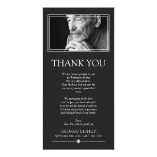 Grey Minimalist Photo   Sympathy Thank You Card