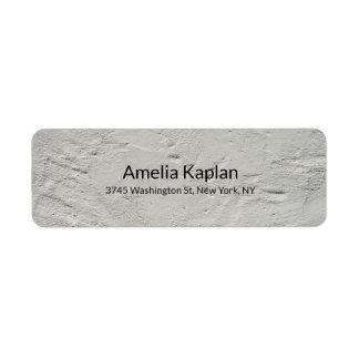Grey Modern Plain Minimalist Professional Return Address Label