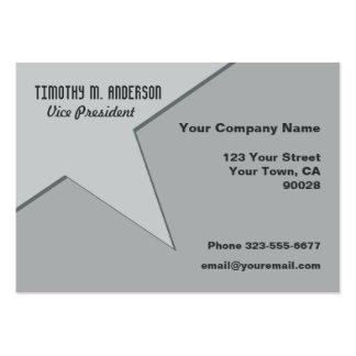 Grey Modern Shape Point Business Card