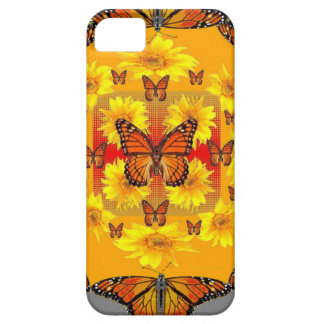 GREY MONARCH BUTTERFLY & YELLOW SUNFLOWERS CASE FOR THE iPhone 5