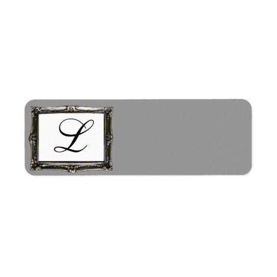 Grey Monogram Initial Label