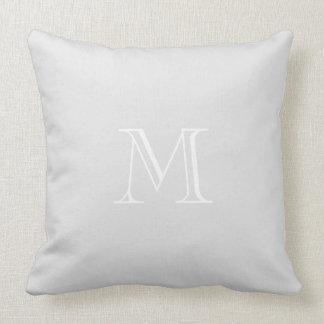 Grey Monogram Throw Pillow