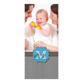 Grey Monogrammed Rack Cards