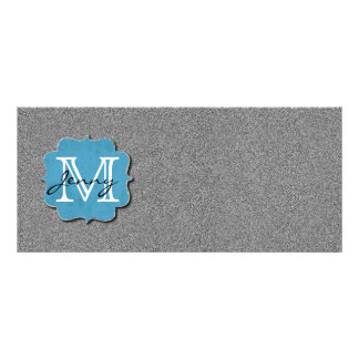 Grey Monogrammed Personalized Rack Card